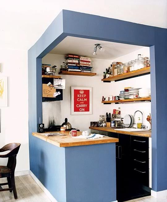 Small Kitchen Ideas You Will Want To Try Today Decoholic | Small Kitchen Design Under Stairs | Stair Storage | Dining Room | Basement Kitchenette | Space Saving | Small Spaces
