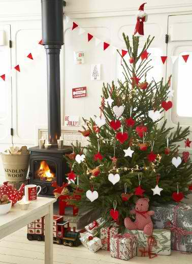 Christmas Decorations Ideas Pinterest   emiliesbeauty com   Christmas Tree Decoration Ideas 31  Via Pinterest