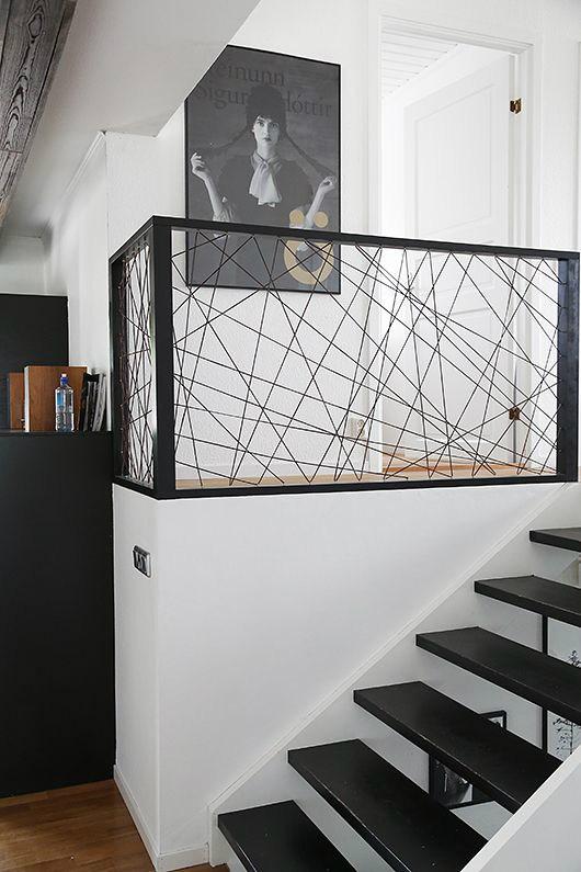 47 Stair Railing Ideas Interior Stair Rails Decoholic   Black Modern Stair Railing   Raised Ranch   Outdoor   Stainless Steel   Colour Combination   Creative Diy