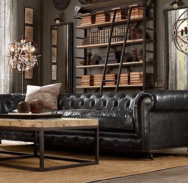 How To Decorate A Living Room With A Black Leather Sofa   Decoholic dark masculine living room decoratin ideas with black leather sofa