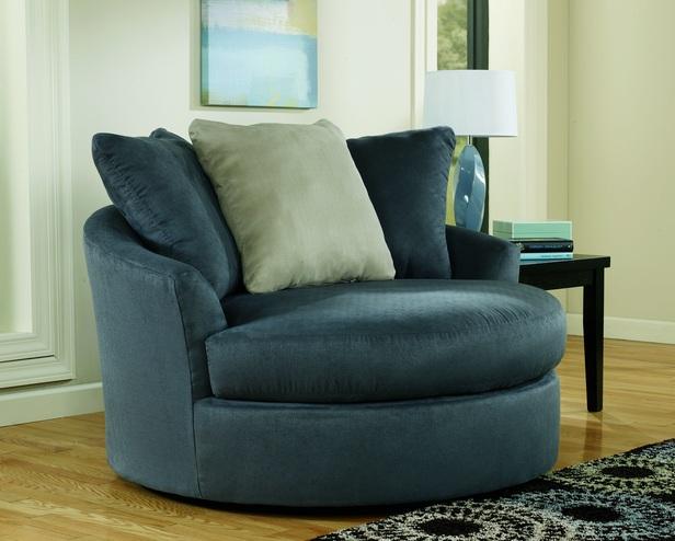 Blue Swivel Chair Living Room