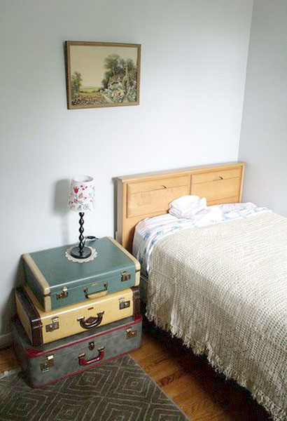 Vintage Furniture Made Of Old Suitcases Room Decorating