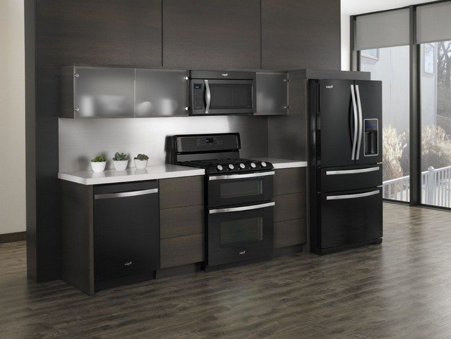 Black Painted Kitchen Cabinet Ideas