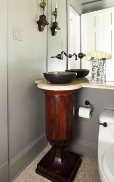 wood pedestal sink   Everything You Need To Know About Pedestal     Everything You Need To Know About Pedestal Bathroom Sinks     wood pedestal  sink