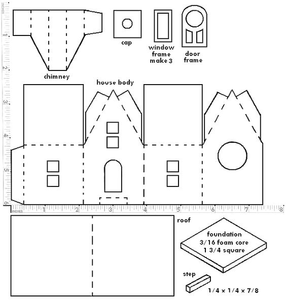 Small Out Barn Template Cut