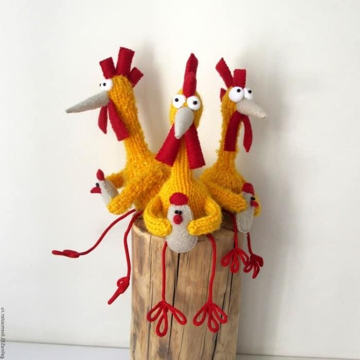 明るい火のコック - 新年の工芸品の素晴らしいアイデア