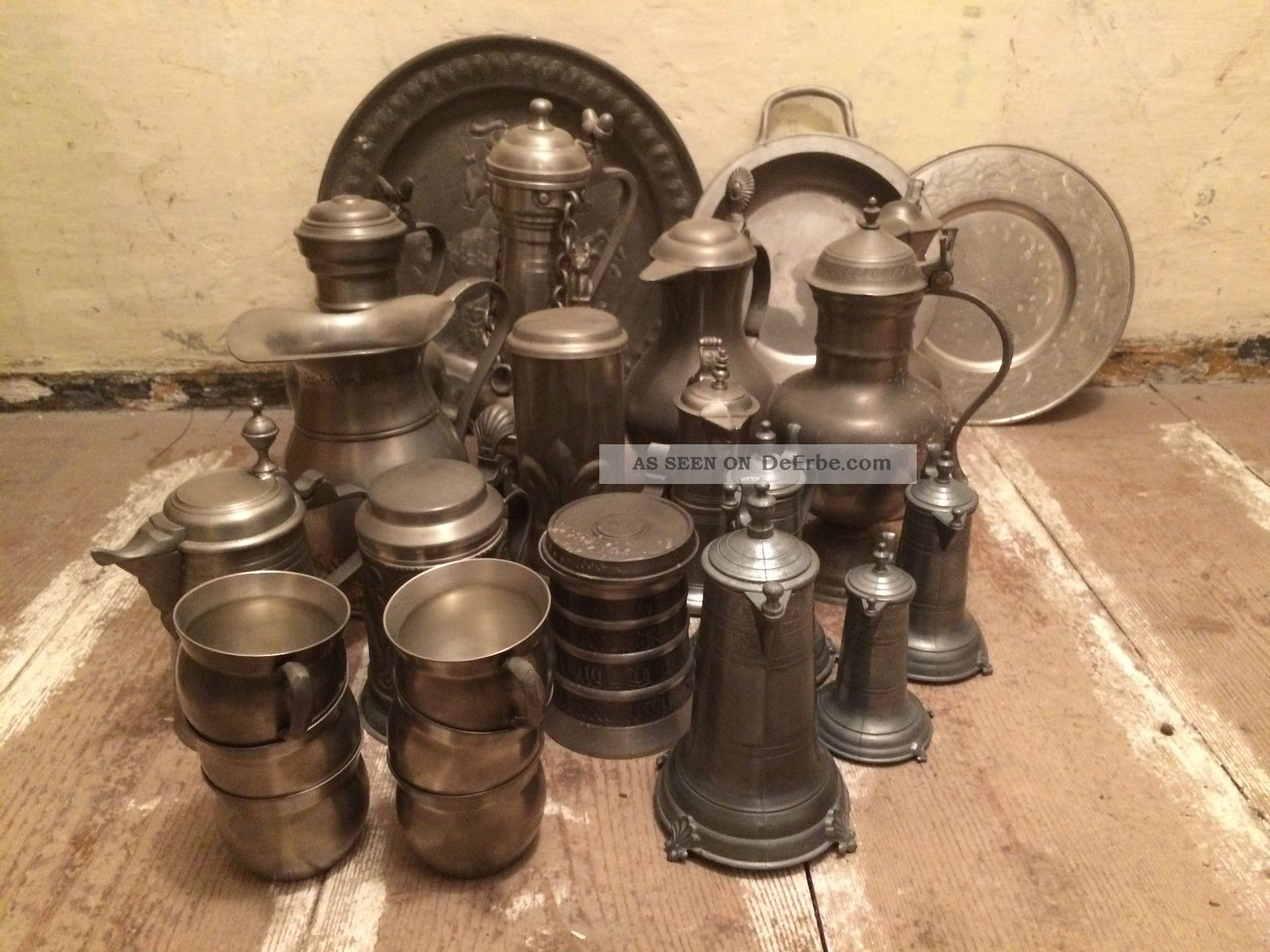 Alte Sachen Aus Zinn 1900 - 2000 - 15kg
