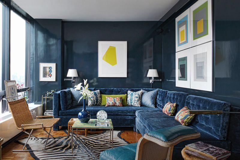 茶色と青の青との組み合わせ