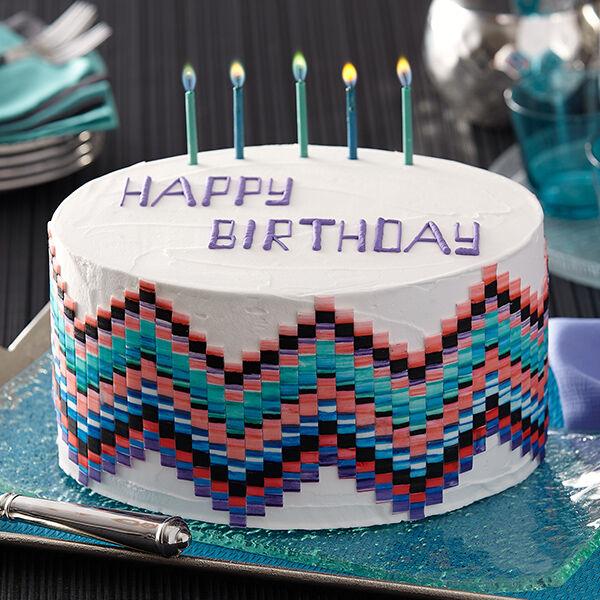 Pixel Painted Birthday Cake