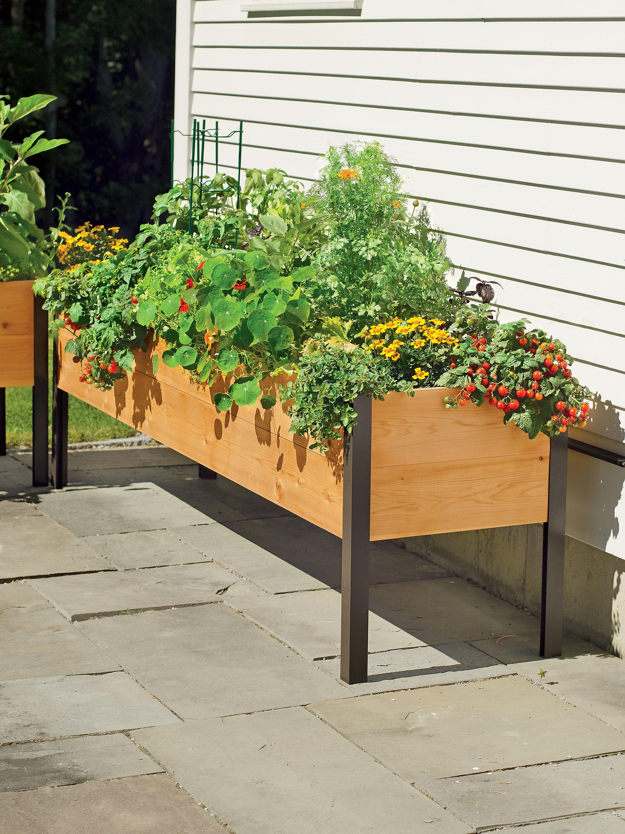 How Build Standing Garden Box