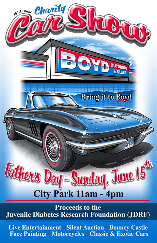 Classic Car Show Flyer Template - Car show flyer template