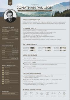 23 Indesign Resume Templates  Professionally Designed to Help Find     Typographic Resume Templates 7