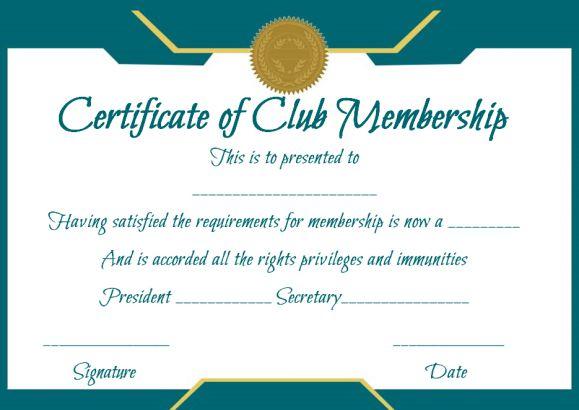 Car Club Membership Form Template