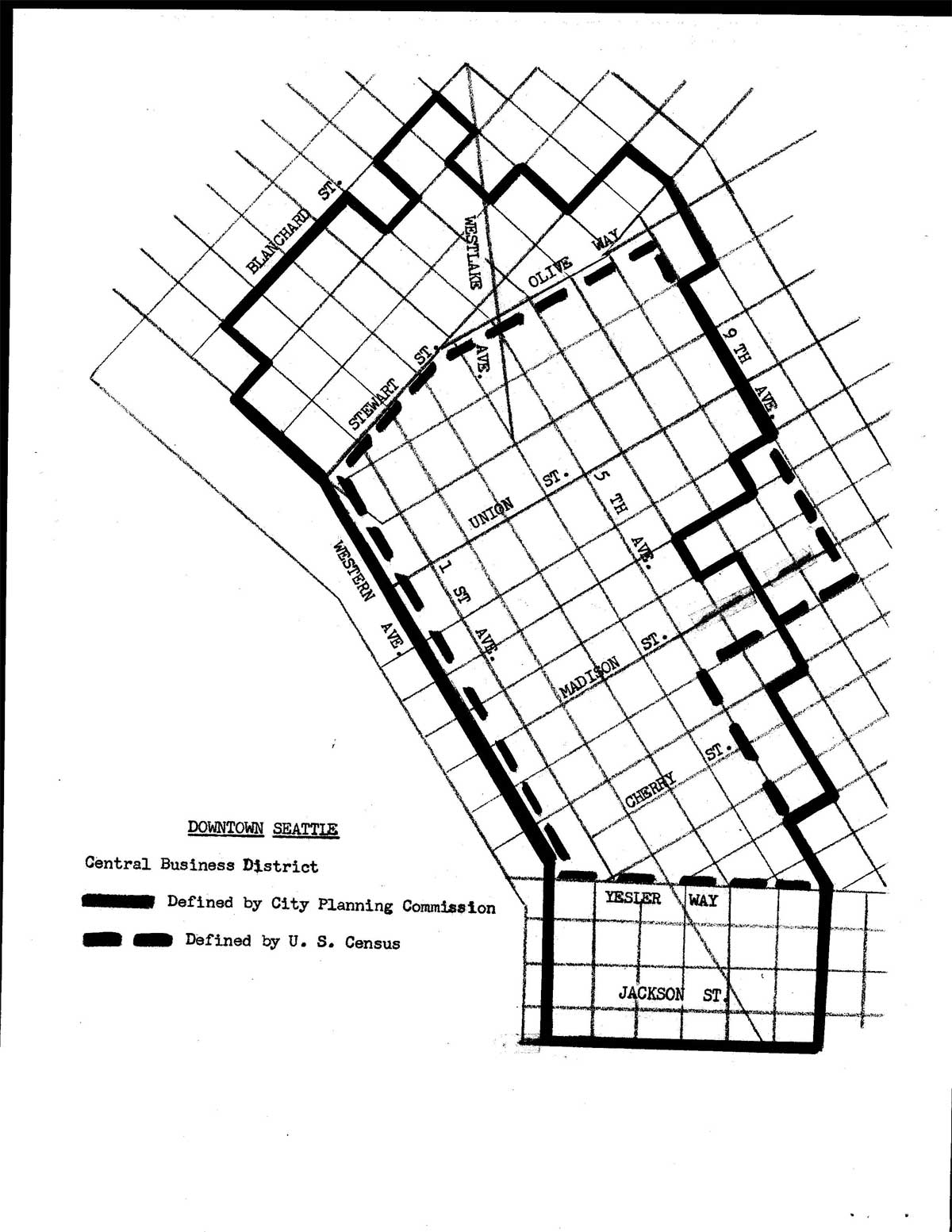 A map of downtown seattle where core planned its downtown employment c aign