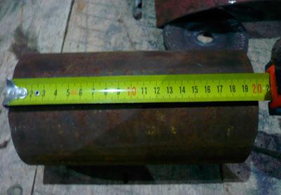 A hengerből származó tűzhely magasságát mérjük