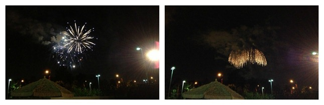 Disneyland Fireworks at HOJO