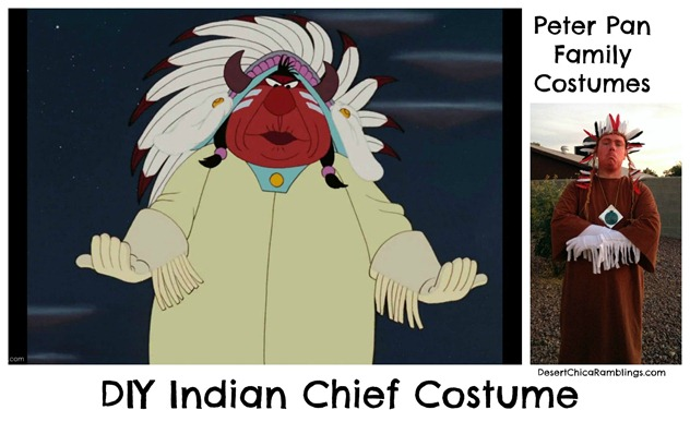 Indian Chief Peter Pan Family Costume