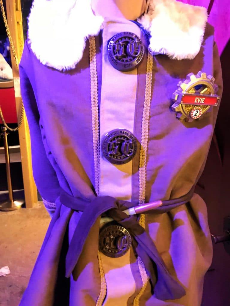 Close up of an elf uniform at Santa's Workshop