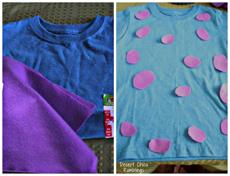 DIY Sulley Shirt Costume