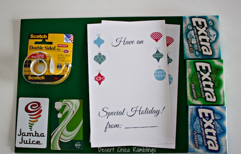 Printable Teacher Gift Card Idea #GiveExtraGum