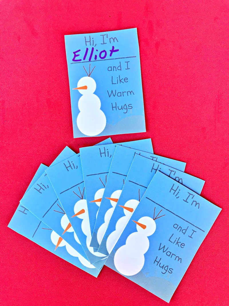 Disney Frozen Valentines inspired by Olaf and Warm Hugs