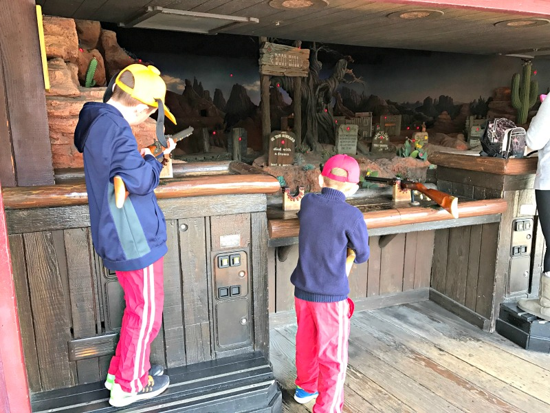 Frontierland Shooting Exposition at Disneyland for Rodeo Break