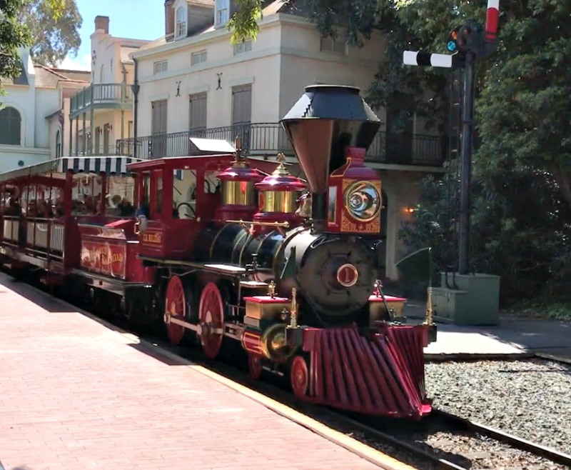 Ride the Disneyland Railroad during Rodeo break at disneyland