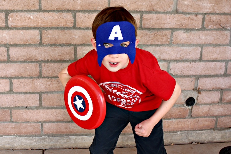 Captain America Mask Ready for a Fight
