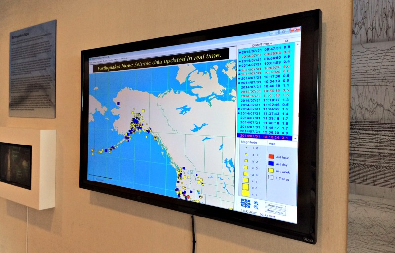 Real Time Data of Alaska Earthquakes at Anchorage Museum