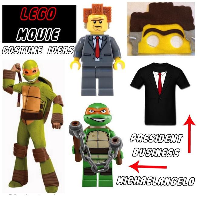 Lego Movie Costume Ideas President Business Michaelangelo