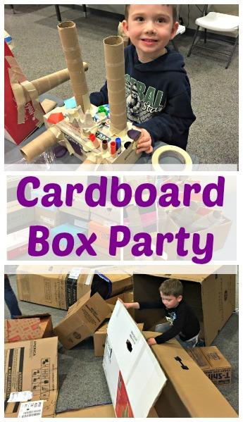 cardboard box party ideas