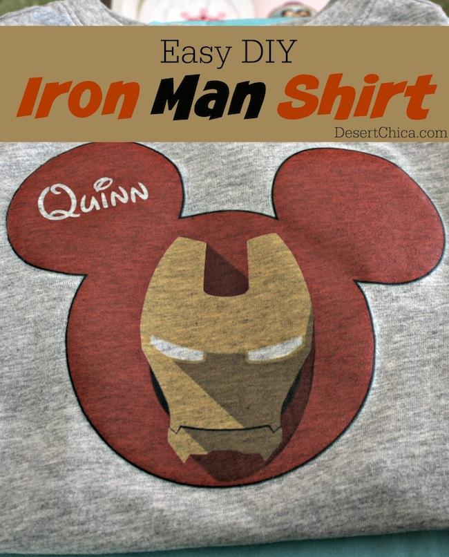 DIY Iron Man Shirt