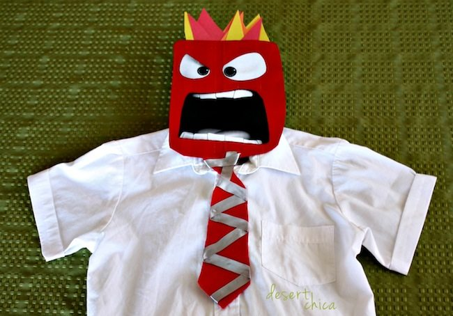 DIY Anger from Inside Out Halloween Costume