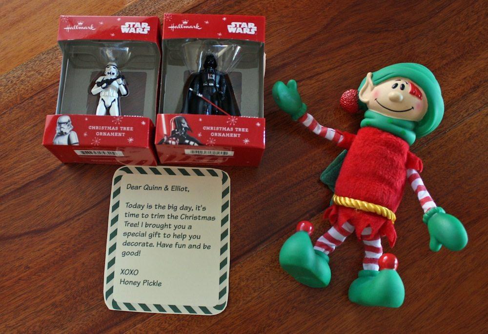 Elf on shelf gift idea ornament