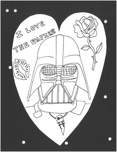 Darth Vader Heart Coloring Page