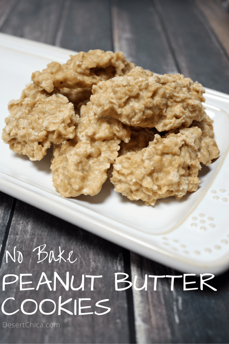 No Bake Peanut Butter Cookies Recipe