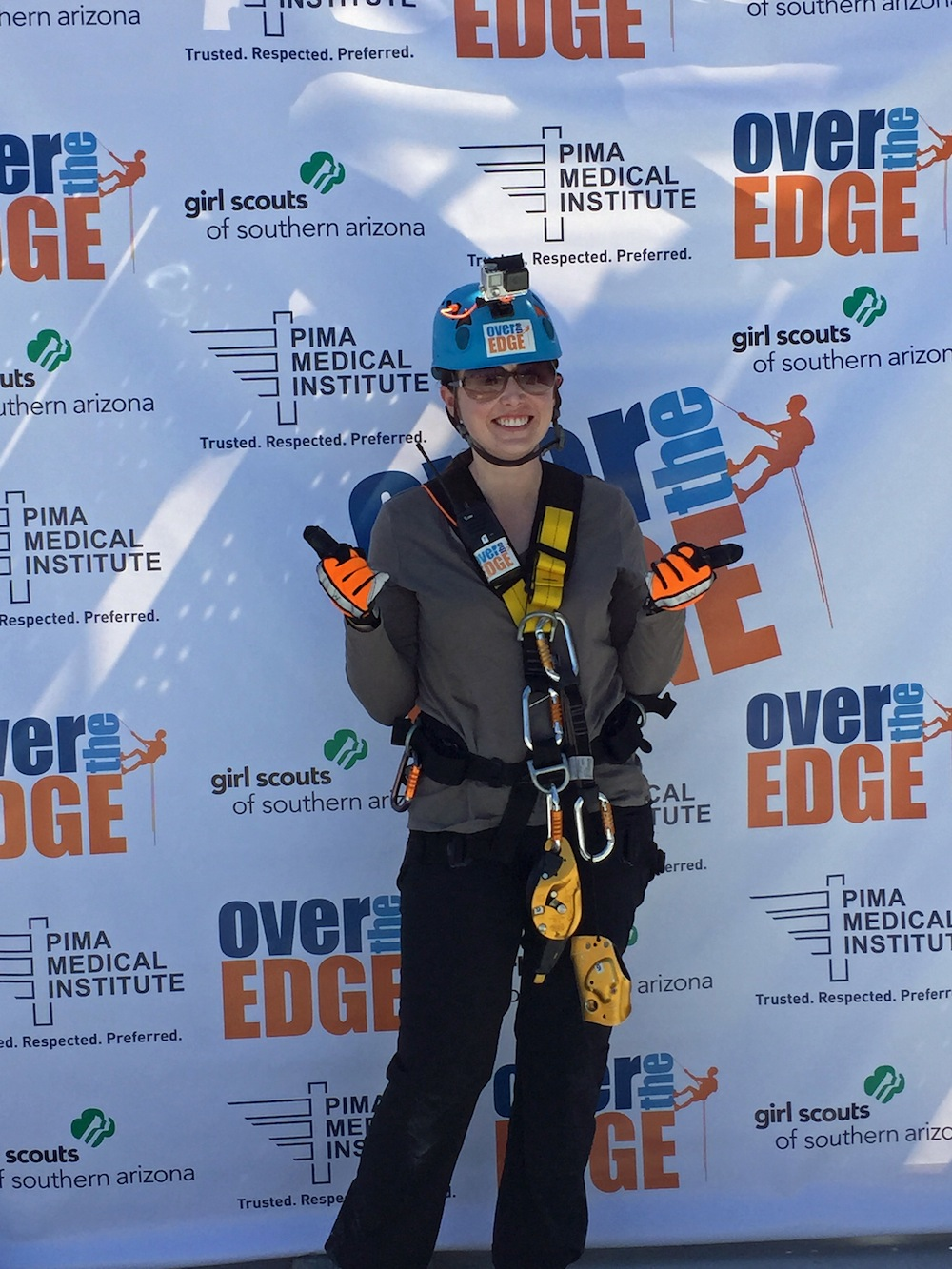 I went over the edge for girl scouts of southern arizona