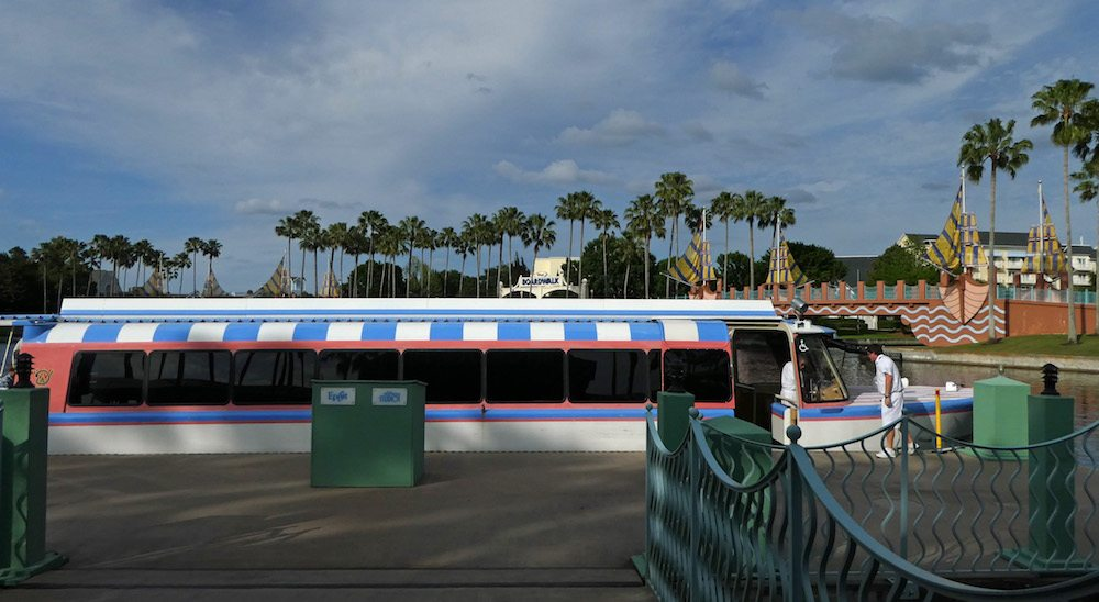 Walt Disney World Boat transportation available from WDW Swan and Dolphin Resorts