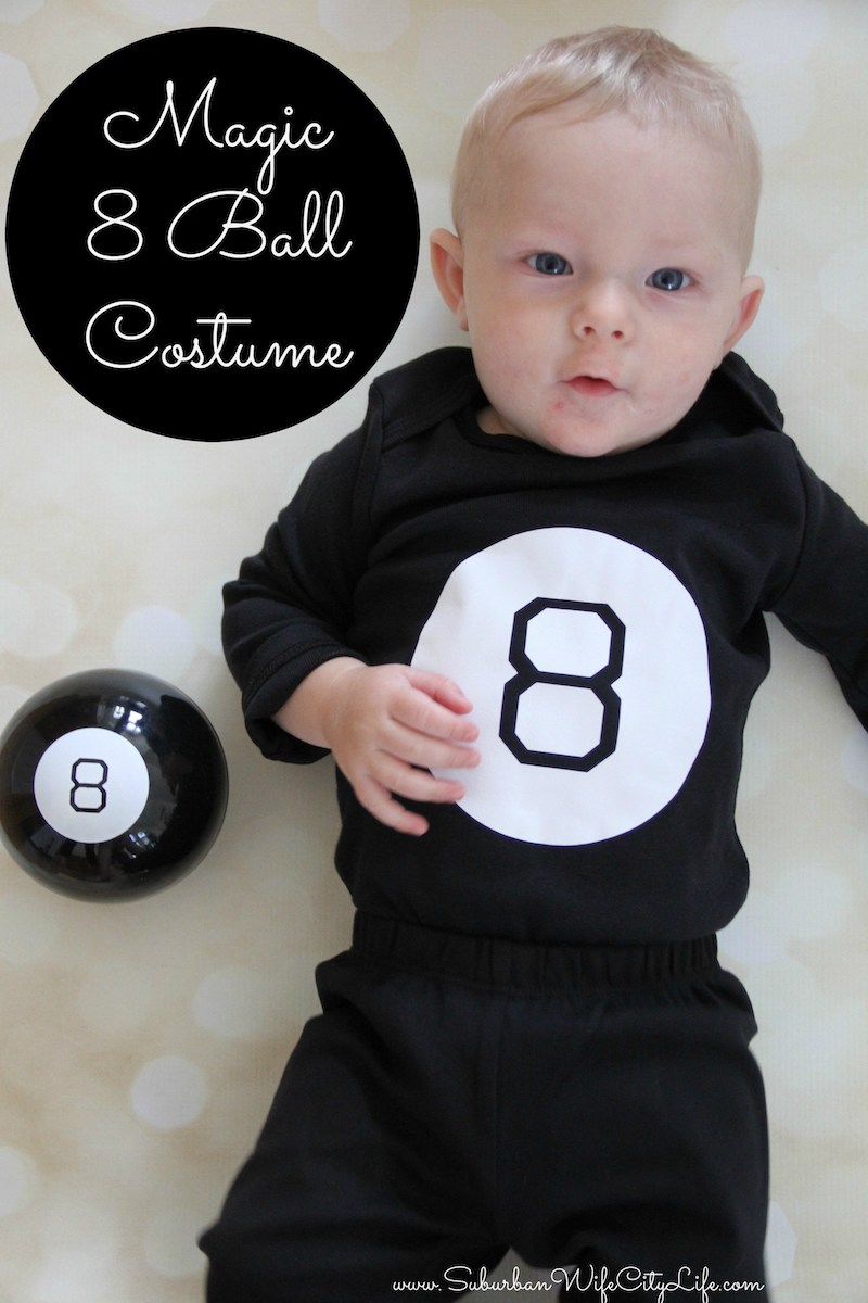 Baby Onesie Costume featuring 8 Ball