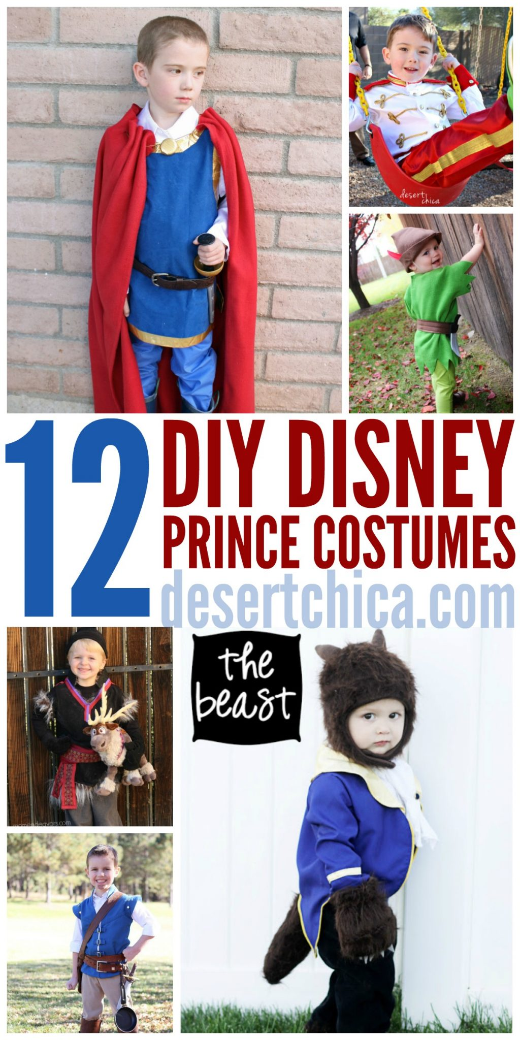 Looking for an adorable DIY Disney Prince costume? I've found 13 of the best homemade prince costumes! Perfect for a Disney trip or Halloween costume.