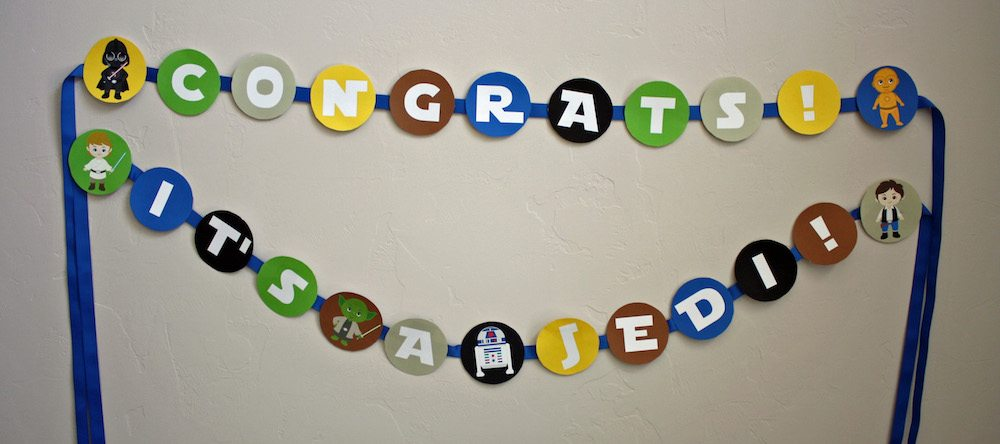 Congrats It's a Jedi Baby Shower Banner