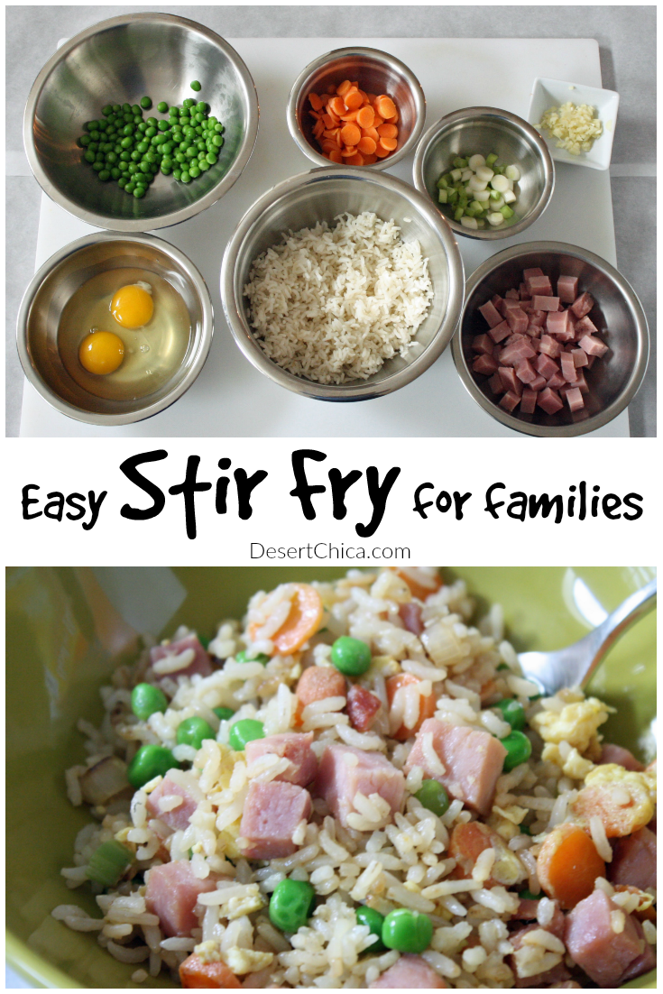This easy stir fry recipe is simple and kid friendly. Cooking is important family activity, it teaches life skills kids need and encourages healthy eating.