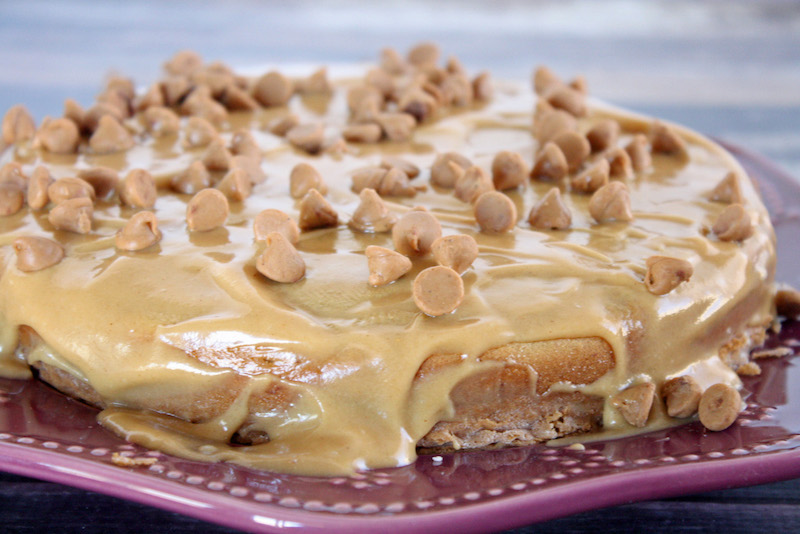 This triple peanut butter cake is amazingly delicious, you can't even tell that it's also gluten-free. Perfect for all your super peanut butter fans.