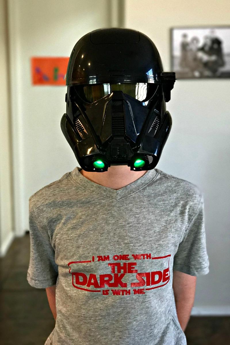 Death Trooper wearing Dark Side Star Wars Shirt