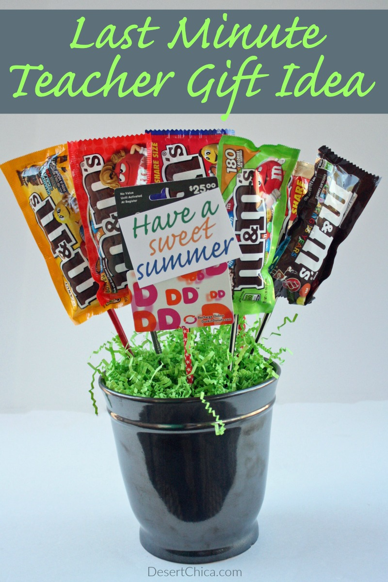 Check out how easy it is to make a candy bouquet, add a fun gift card if you want and you have the perfect end of year teacher gift!