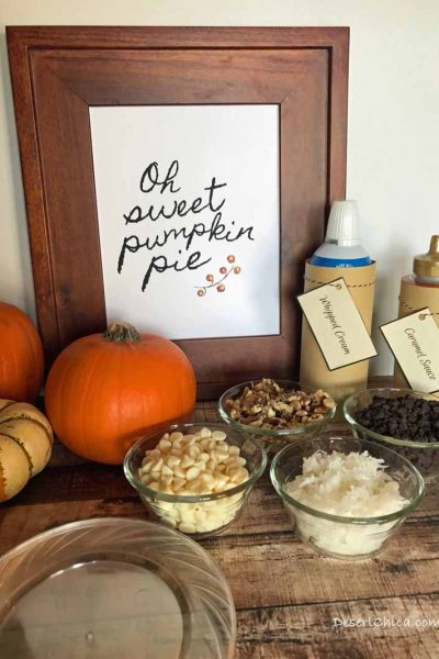 How to create your own pumpkin pie toppings bar for your fall festivities