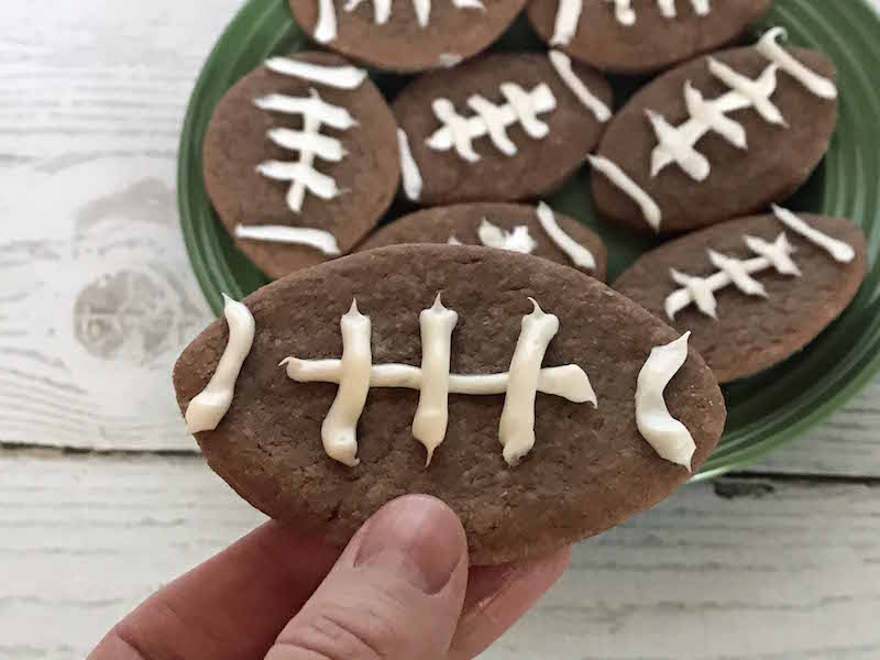 How to make super easy chocolate football cookies