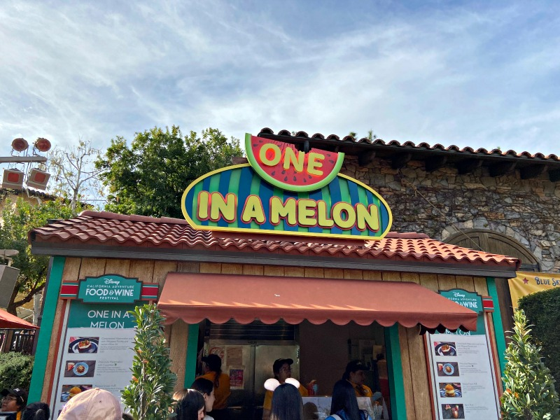 One in a Melon Booth at 2020 Disney California Food and Wine Festival