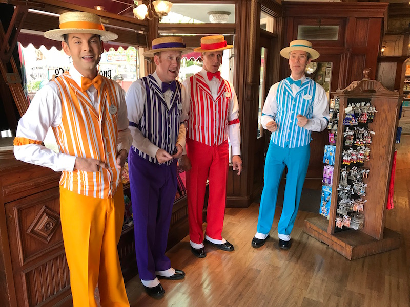 Find the Dapper Dans singing Pixar Songs for Pixar Fest Scavenger Hunt at Disneyland