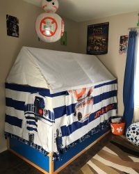 Kura bed hack into Star Wars bed tent